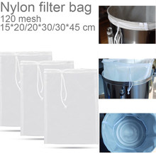 Beer Brew Bag Home Brew Filter Bag With String Malt Mash Bag Fine Mesh Nylon Food Strainer Bag Filter Bag For Nut Milk Juice(China)