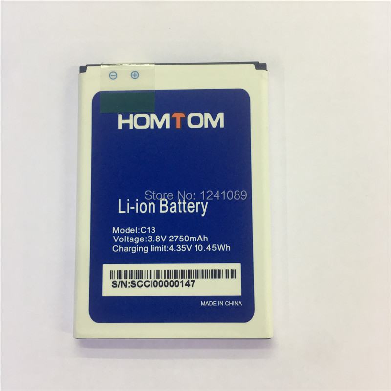 <font><b>10</b></font> pieces / lot for <font><b>HOMTOM</b></font> C13 battery 2750mAh Long standby time High capacity for <font><b>HOMTOM</b></font> C13 mobile phone battery image