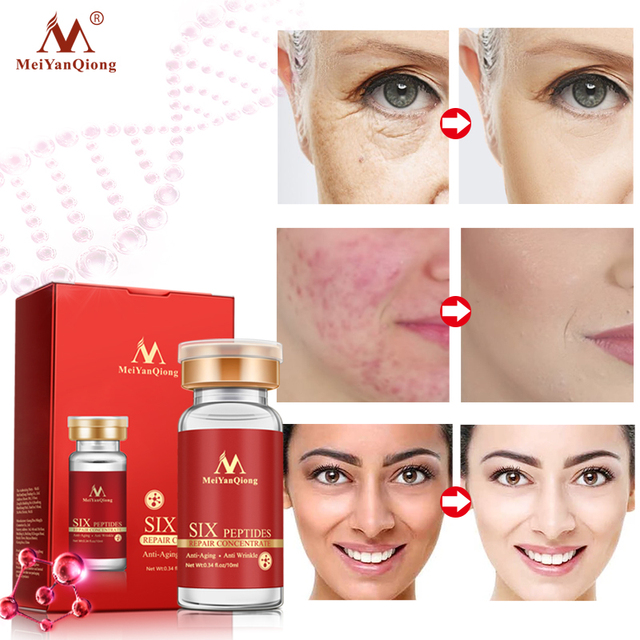 Six Peptides Repair Concentrate Rejuvenation Emulsion Anti Wrinkle Serum For Face Skin Care Products Anti-aging Acid 3