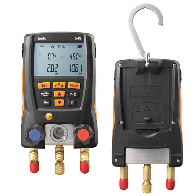 Manifold Digital Mastercool Testo 549 Digital Manifold HVAC Gauge System Kit R410a R410 Refrigeration And Air Conditioning Tools