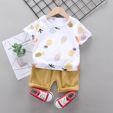 Baby Boy Clothes Set Infant Summer Clothing Casual Cotton Print T-shirt + Pant 2pcs Kids Sports Suits For Outfit