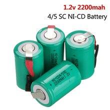 2-20 pces 4/5sc NI-CD bateria 1.2v 2200mah sub c bateria recarregável para diy chave de fenda elétrica broca lanterna subc battries