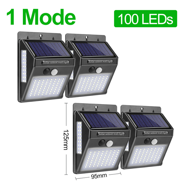 Goodland 100 LED Solar Light Outdoor Solar Lamp Powered Sunlight Waterproof PIR Motion Sensor Street Light for Garden Decoration 2