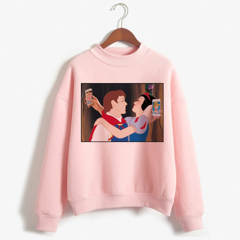 Aesthetic Harajuku Grunge Funny Cartoon Hoodies Women Ullzang Princess Vintage 90s Graphic Sweatshirts Korean Style Hoody Female