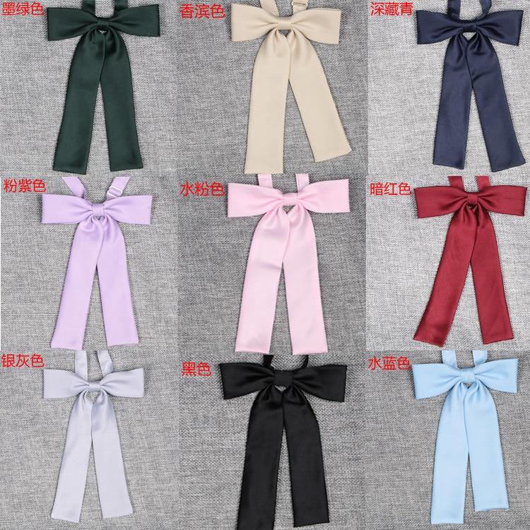 Japanese School JK Uniform Bow Tie For Girls Butterfly Cravat Solid Color Ribbon School Sailor Suit Uniform Accessories