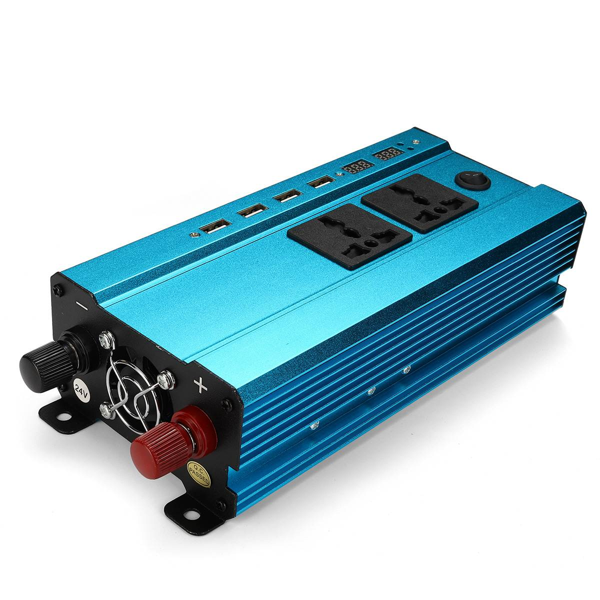New <font><b>1000W</b></font> Inverter Car Inverter Power Inverters Sine Wave 12V/24V DC to 220V 4USB Interface Voltage Transformer LCD Display image