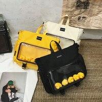 المرأة حقيبة ساعي شفافة لطيف حقيبة مدرسية للفتيات في سن المراهقة حقيبة الظهر حقيبة الإناث حقيبة مدرسية Mochilas 2020