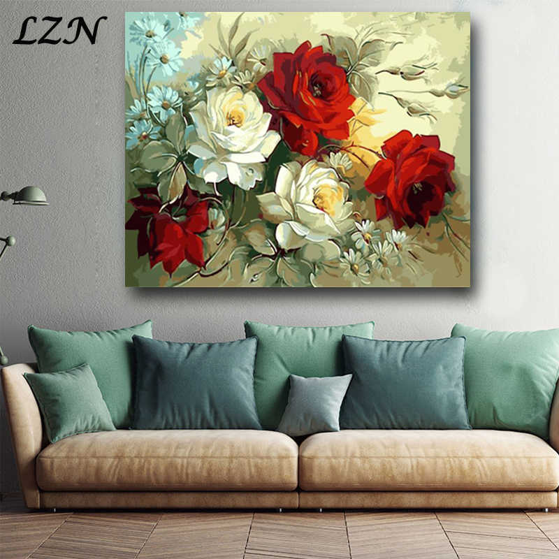 Nordic Art Posters Peony Flower Canvas Print Painting Wall Deco Calligraphy Drawing for Modren Livingroom Decoration Minimalism