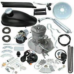 80cc 2 Takt Fiets Motorfiets Benzine Kit Voor Elektrische Fiets Mountainbike Complete Set Bike Gas Motor Motor