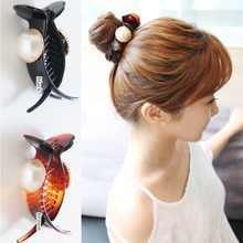 Korea ACTS the role ofing big pearl hair clip hair grasp clip horsetail clip dish hair ball hair rope hair loop clip hair act th