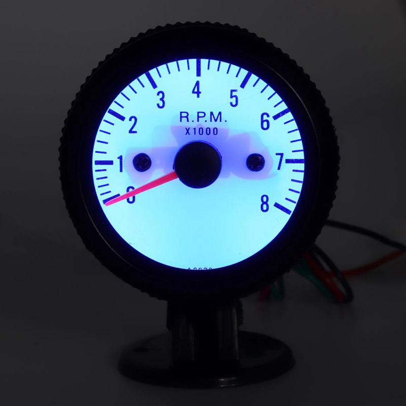 Модификация автомобиля Тахометр Инструмент Синий светодиодный Тахометр