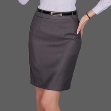 Skirt Plus Size 4XL 5XL Autumn Winter Style Elegant Office Above Knee Grey Black Blue 3 Colors SK0001