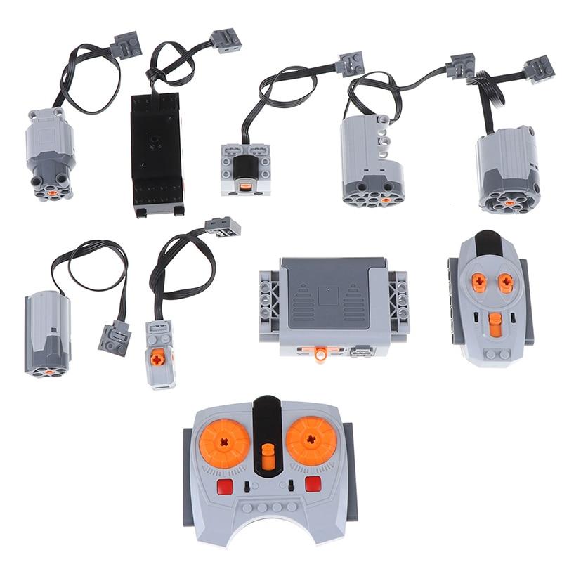 Piezas técnicas compatibles con legoed herramienta multifunción eléctrica Servo bloques tren Motor eléctrico PF juegos de modelos Kits de construcción