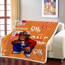 Модное Трендовое одеяло sherpa утяжеленное в стиле рок н для