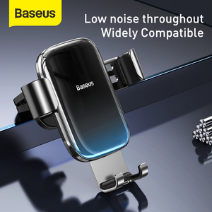 Image 3 - Baseus重力車携帯電話ホルダーユニバーサルカーエアコンセントベントマウントスマートフォン金属車充電スタンド電話ホルダー