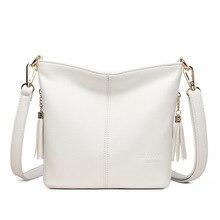 Bolsas brancas de luxo bolsas femininas designer de couro borlas feminino shoudler crossbody sacos para mulheres 2020 bolsas e bolsas