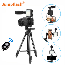 Jumpflash Vlog Shooting Kits Studio Photography Suit Selfie Broadcast With Microphone LED Fill Light Tripod For Digital Camera