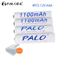 4 pcs 1100mAh 1.2v AAA rechargeable battery for LED light Toy placement battery for camera MP3 mp4 microphone(China)