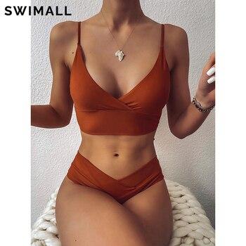 2021 Sexy Solid Swimsuit Women Bikini Push Up Swimwear Vest Bikini Set Brazilian Bathing Suit Two Piece Swim Suit Female