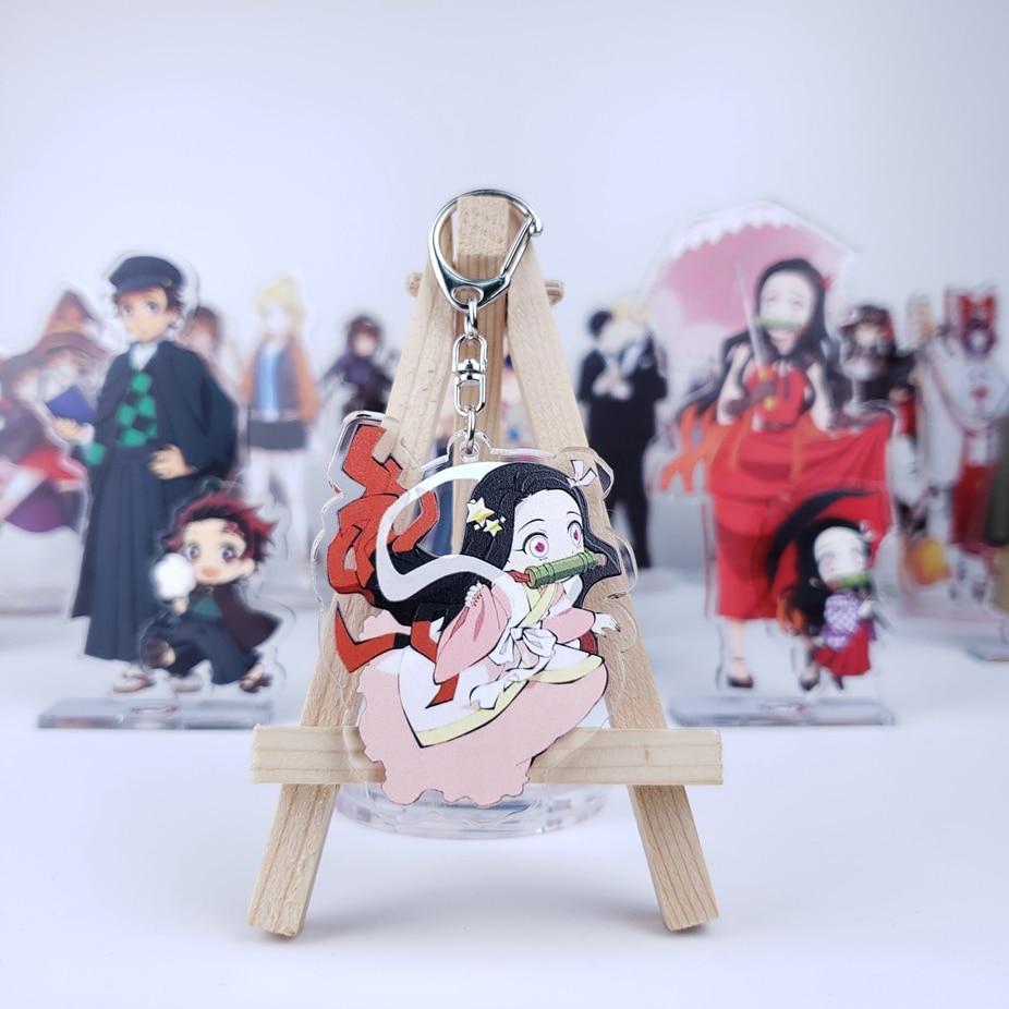 Брелок для ключей с японским аниме «рассекающий демонов», акриловый аксессуар для косплея киметасу, нет яибы, танджиру, камадо, незуко, подв...
