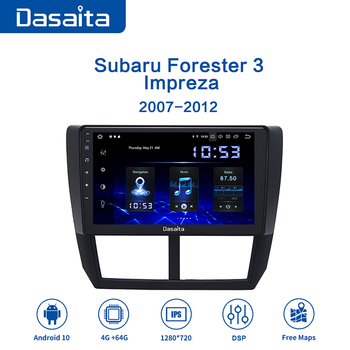 Dasaita 9 IPS Car Multimidia Android 10.0 for Subaru Forester WRX 2008 2009 2010 2011 2012 Radio GPS Navigation TDA7850 MAX10 for subaru forester 2009 2012 car trunk mat element nlc4608b13