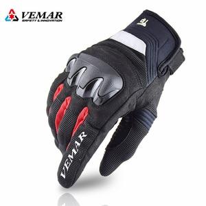 Image 1 - VEMAR Neue Atmungsaktive Motorrad handschuhe racing handschuhe Touch Screen anti herbst Motorrad outdoor Radfahren Sport Sommer Handschuhe