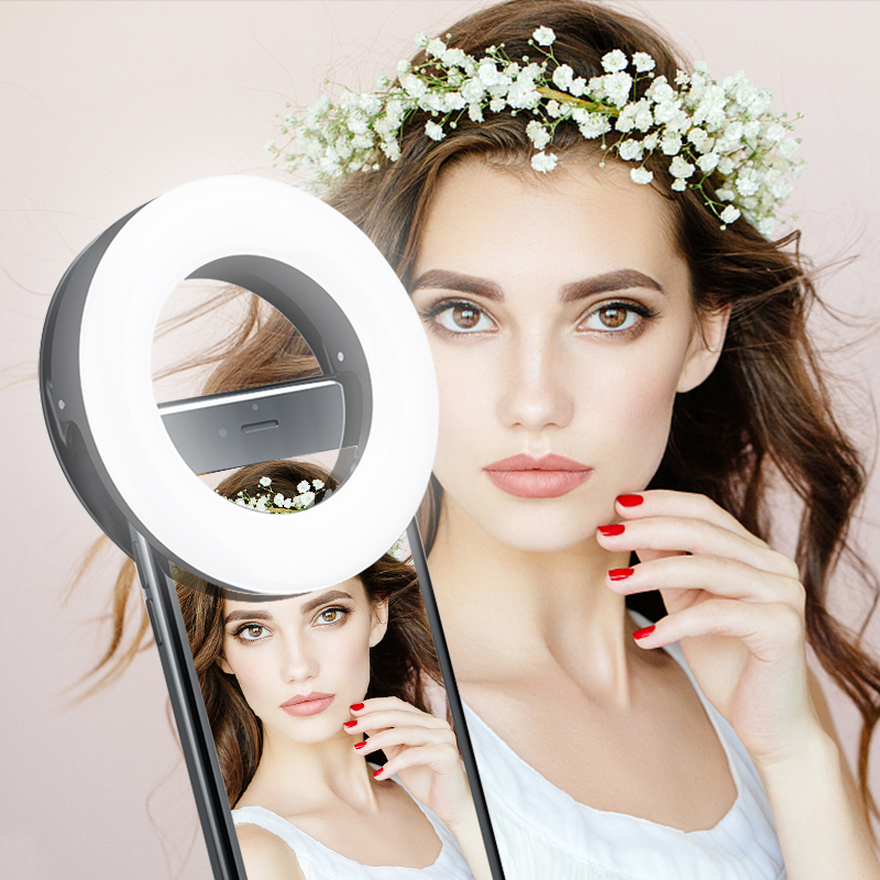 Updated 3200K 6500K 40 LED Lamps Selfie Ring Light for iPhone Andriod Vlog Ring Light Selfie Fill Light Enhancing USB Charge Photo Studio Accessories  - AliExpress