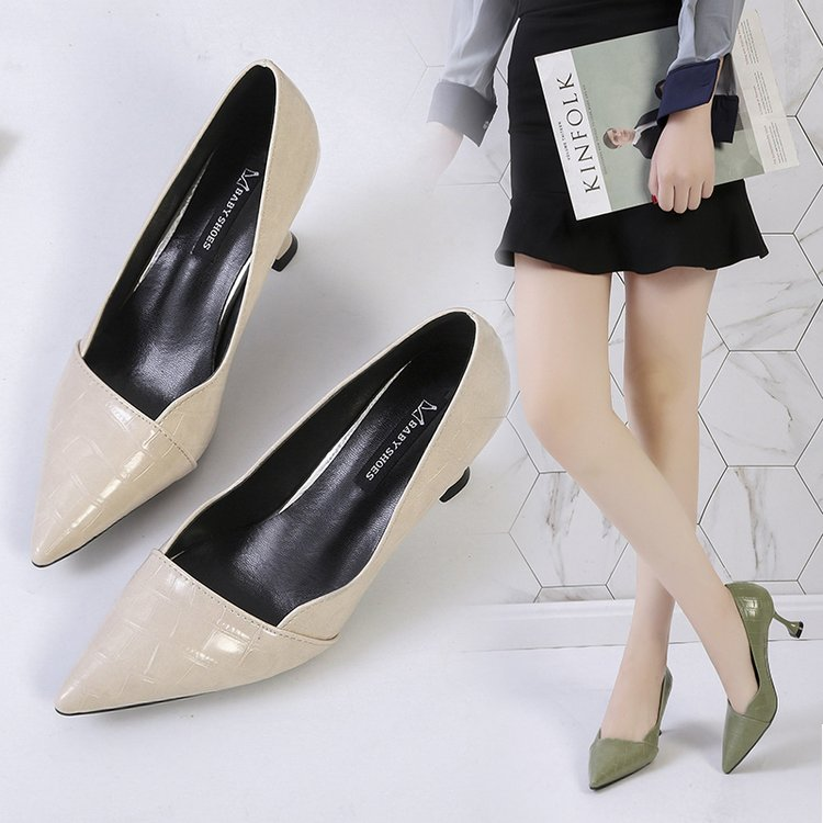 Wild Black Career Work Shoes Sexy Pumps