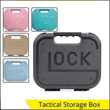 Tactical Gun Safety Carry Case Box Glock 17 Kublai Pistol Suitcase Gun Accessories Safety Storage Hard Case for Hunting Tools