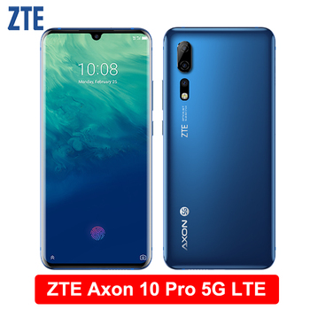 """ZTE Axon 10 Pro 5G LTE Mobile Phone 6.47"""" Flexible Curved Water Drop Screen 6G RAM 128G ROM Snapdragon 855 Octa-Core Smartphone"""