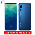 ZTE Axon 10 Pro 5G LTE Mobile Phone 6.47 Flexible Curved Water Drop Screen 6G RAM 128G ROM Snapdragon 855 Octa-Core Smartphone