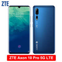 Zte Axon 10 Pro 5G LTE Mobile Phone 6.47 Flessibile Curvo Schermo di Goccia Dell'acqua 6G di RAM 128G ROM Snapdragon 855 Octa-Core Per Smartphone