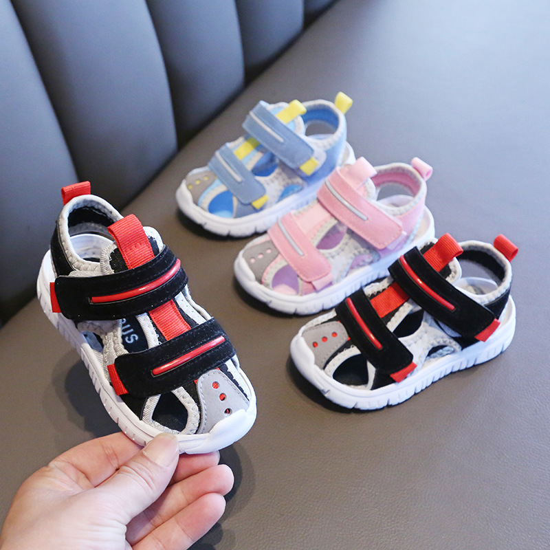 Summer baby sandals for girls boys soft bottom cloth children shoes fashion little kids beach sandals toddler shoes 2