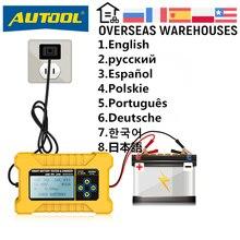 Autool bt380 bateria de carro testador carro bateria carregada 12v automotivo cranking tester analisador veículo banco potência cca jis din iec