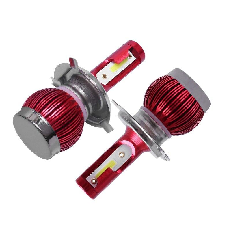 2 предмета Автомобильные светодиодные фары 16000LM H1 H3 H7 H8 H9 H11 9005 HB3 9006 HB4 9012 HIR2 H4 9003 Hi/короче спереди и длиннее сзади) 9004 9007 H13 Автомобильная фара лампы