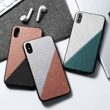 Luxury Mixed colors PU leather Phone Cases For iphone X Xs Max XR Ultra Thin Soft Silicone case 7 8 6 6s Plus cover