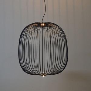 Image 2 - Remote Foscarini Spokes 1/2 Pendant Lights Modern LED Hanglamp LOFT Industrial Bird Cage lustre Suspension Fixtures Dining Decor