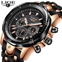2020 LIGE New Fashion Mens Watches Top Brand Luxury Big Dial Military Quartz