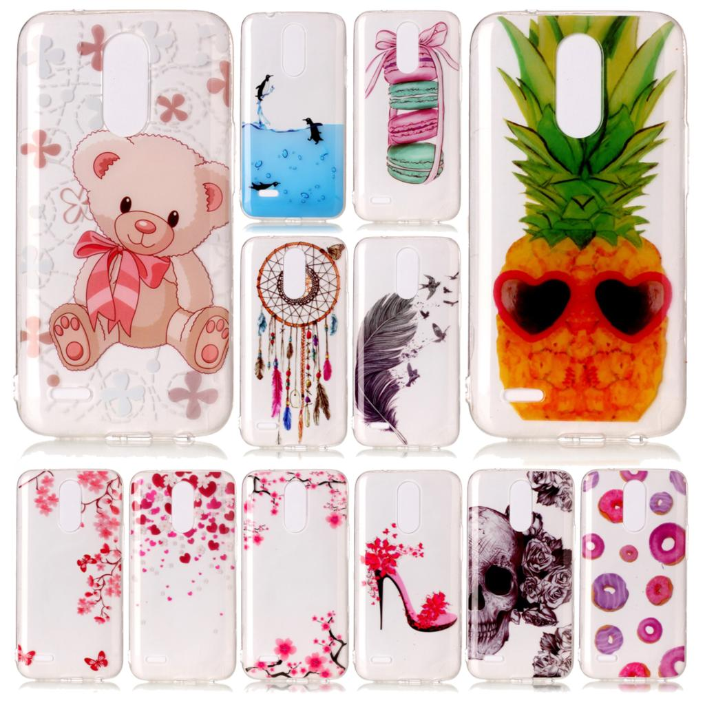 Cases For <font><b>LG</b></font> K10 2017 X400 M250N TPU Soft Silicone Mobile Phone Case For <font><b>LG</b></font> K 10 2017 X <font><b>400</b></font> M 250N Fashion Painted Back Cover image