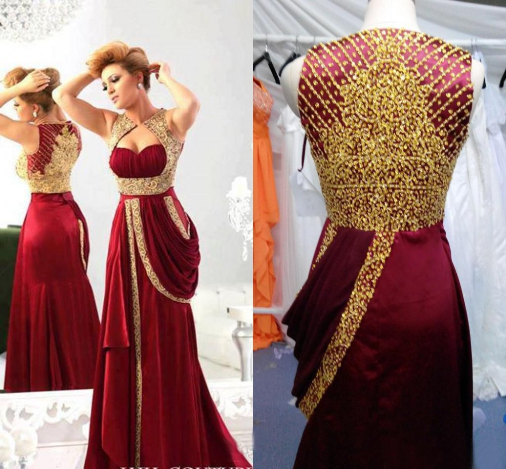 Party Prom Gown Vestido De Renda Fashion Luxury Beading Gold Sequined Women Long Evening Free Shipping Mother Of The Bride Dress