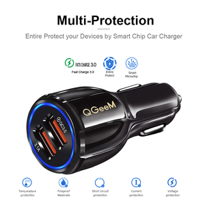 Image 3 - QGEEM Dual USB QC 3.0 Car Charger Quick Charge 3.0 Phone Charging Car Fast Charger 2Ports USB Portable Charger for iPhone Xiaom