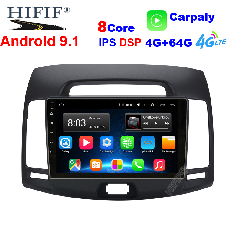 4 + 64G dsp Octa core Auto Radio Multimedia keine 2 din android Video Player Navigation GPS Für <font><b>Hyundai</b></font> <font><b>elantra</b></font> HD 2006-<font><b>2010</b></font> image