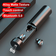 Bluetooth Earbudes Pull-out Wireless Earphone TWS True Stereo With Microphone Metal matte T