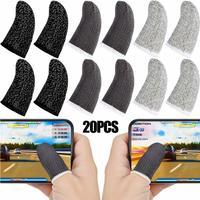 20PCS Gaming Finger Sleeve Controller di gioco per schermo Mobile guanti resistenti al sudore fibra traspirante PUBG Assist artefatto accessori di gioco