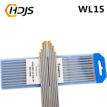 High quality gold code 10pcs 150MM thorium tungsten electrode TIG welder argon arc welding tungsten needle/rod