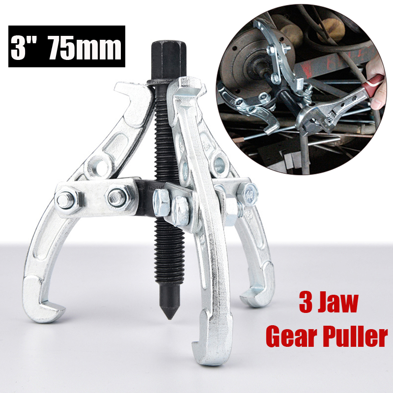 1pc Gear Hub Bearing Puller 3 Jaw Reversible Fly Wheel Pulley Remover Tool Gear Sprocket Bearing Pulley Extractor Tool