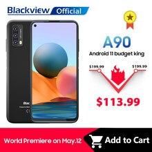 Blackview a90 smartphone helio p60 octa núcleo 13mp hdr câmera celular 4gb + 64gb 4280mah android 11 telefone 4g lte celular