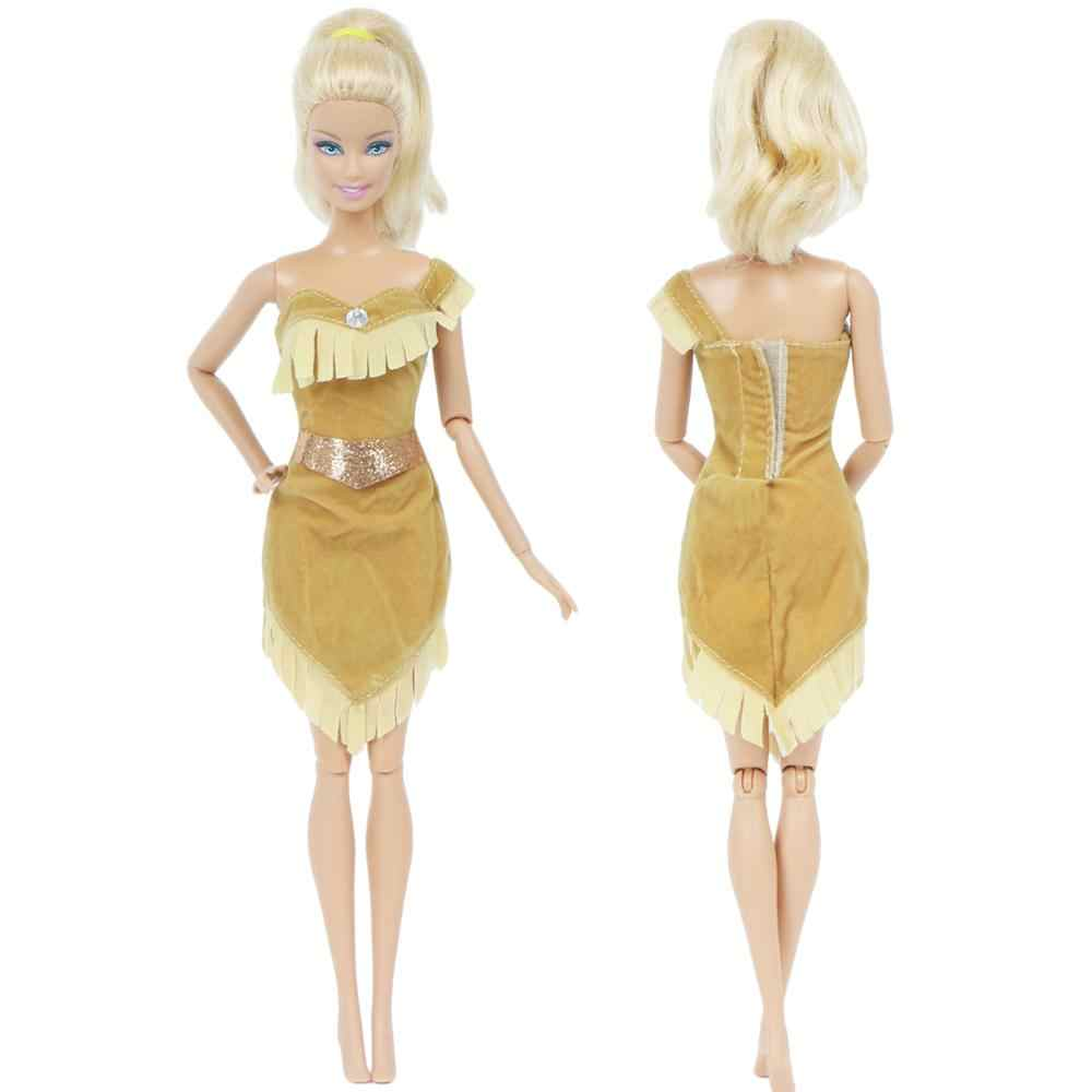 1x Prenses Elbise Pocahontas Kopya Kiyafet Hint Karikatur Peri Masali Kostum Barbie Fr Kurhn Oyuncak Bebek Giysileri Aksesuarlari 91 For Barbie Barbie Doll Costumeclothes For Barbie Dolls Aliexpress