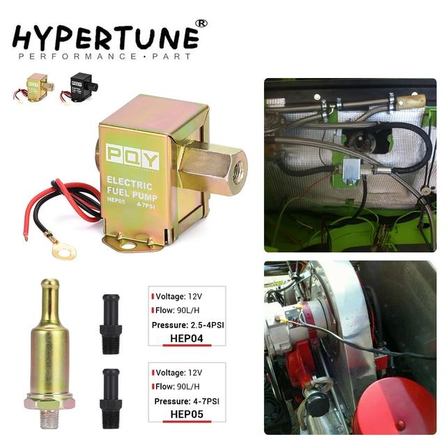 Universal 12v eletrônico bomba de combustível em linha 4 7psi alta pressão 90lph gasolina gás diesel compatível 40104 40106 40107 p502