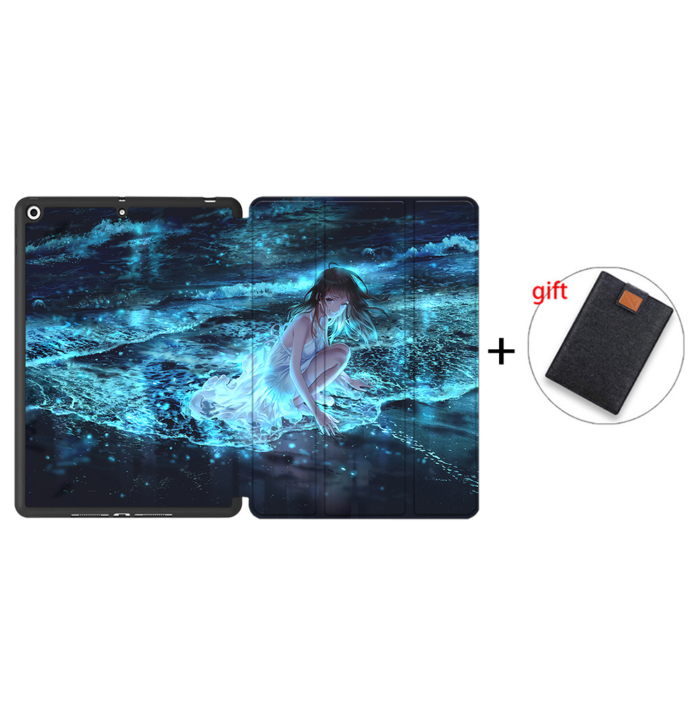 IPBC14 Clear MTT Tablet Case For iPad 10 2 7th 8th Generation 2020 TPU Back PU Leather Flip